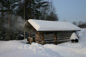 byg en udendørs sauna